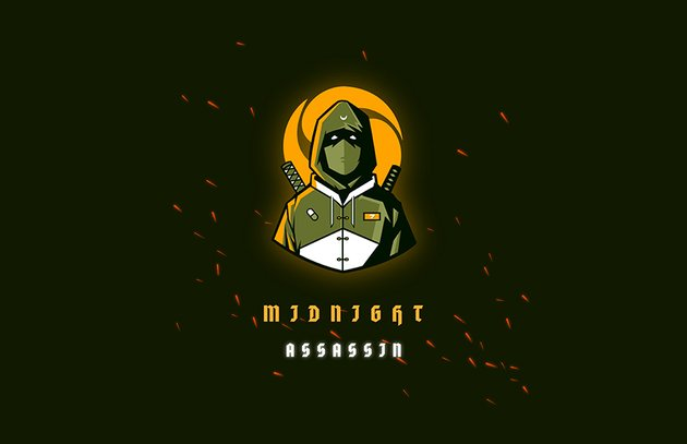 Midnight Assassin Gaming Emblem Logo Design