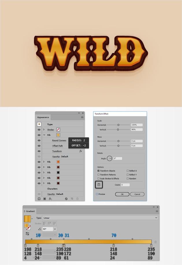 western text gradient