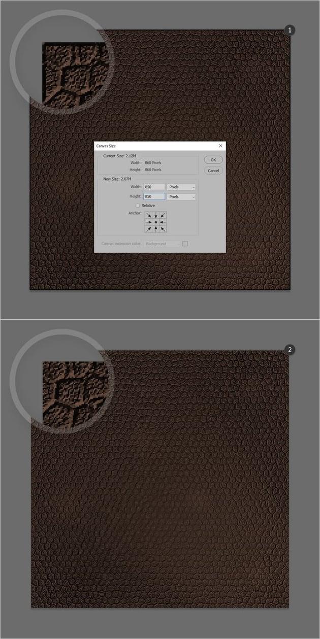 leather texture trim