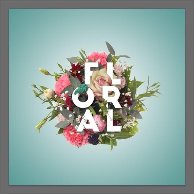 flower typography background