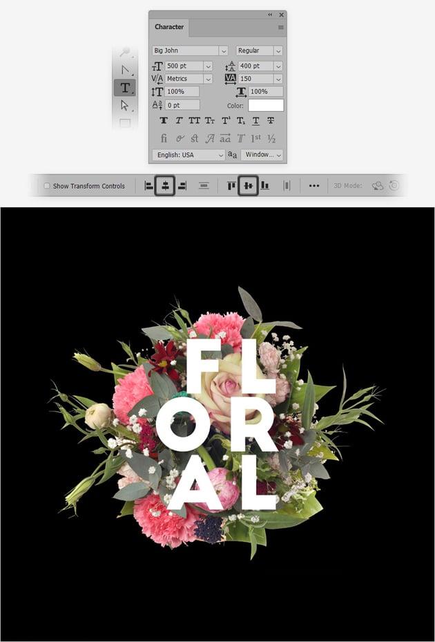 flower text effect