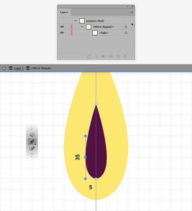 edit mirror illustrator