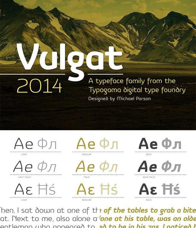 Vulgat Cyrillic font