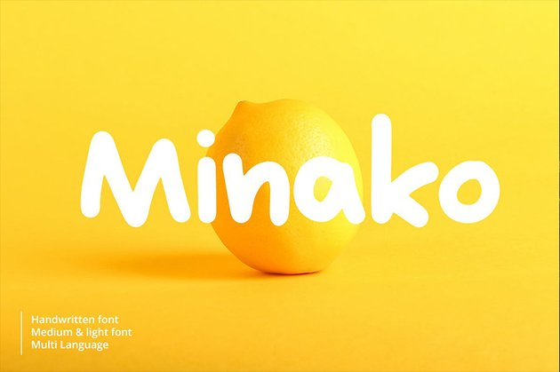 Minako Cyrillic font