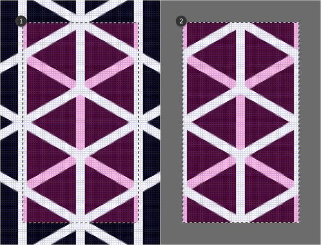 crop grid pattern
