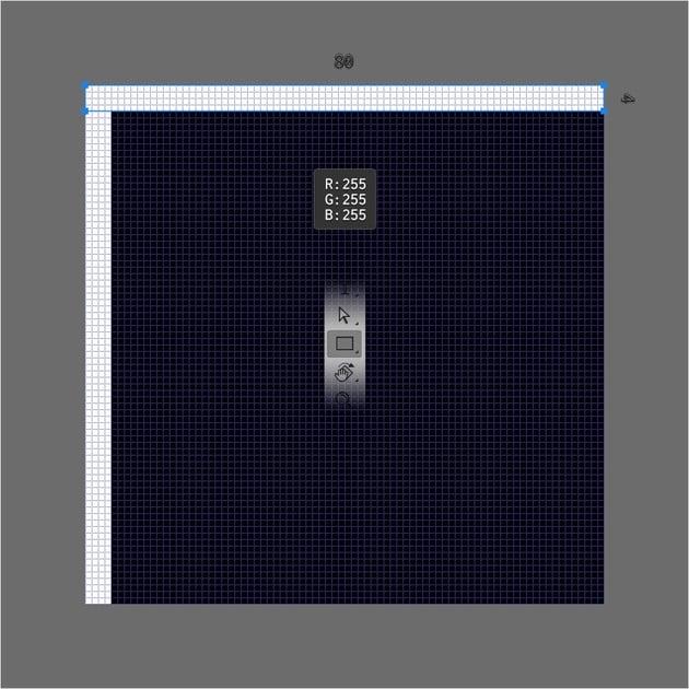 white rectangle
