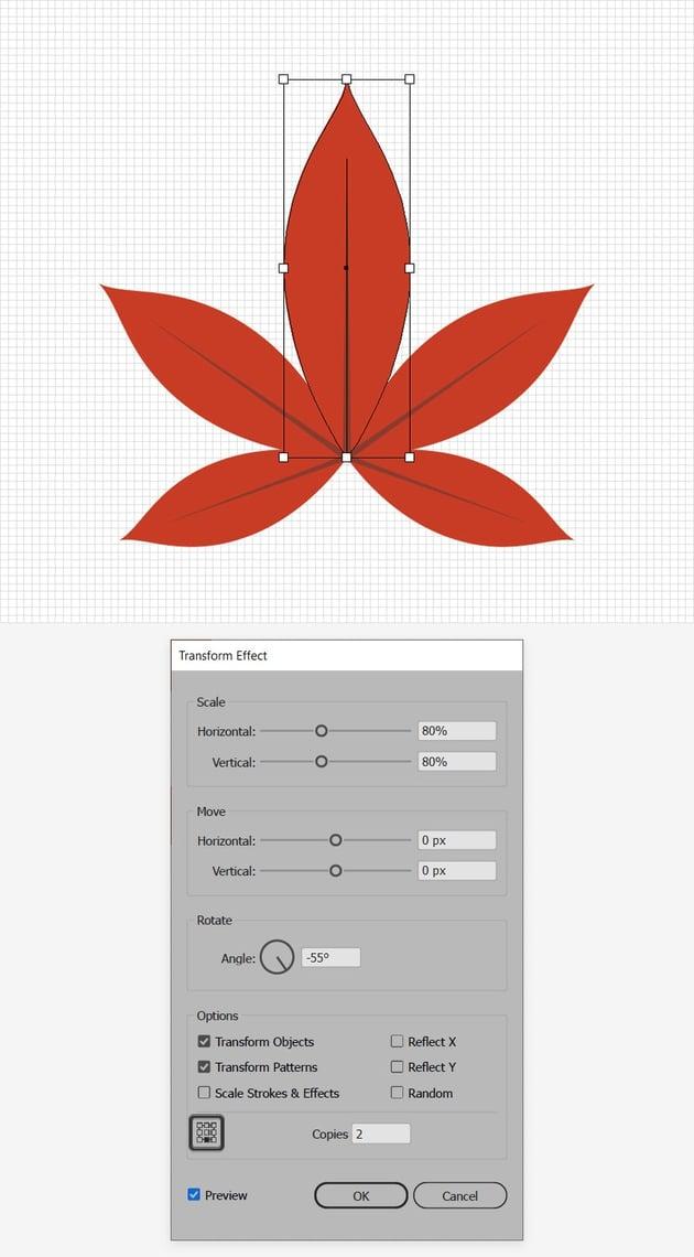 red leaf design multiply