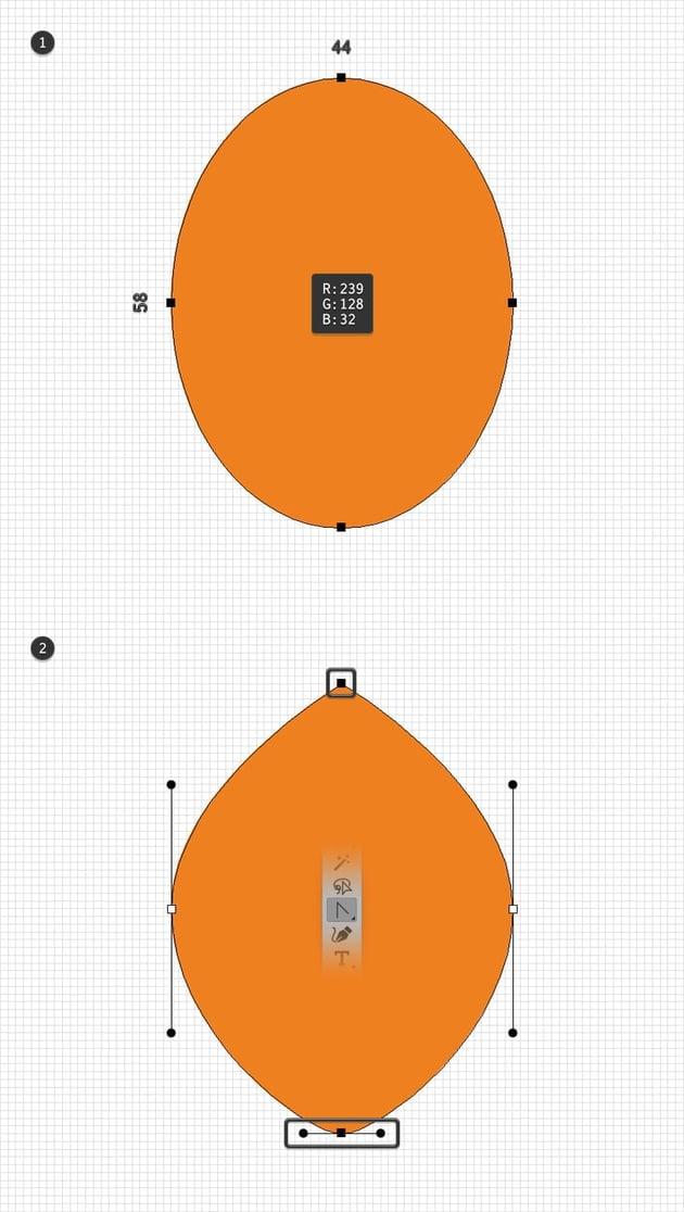 leaf design orange