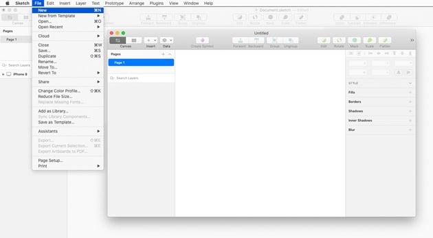 sketch new document