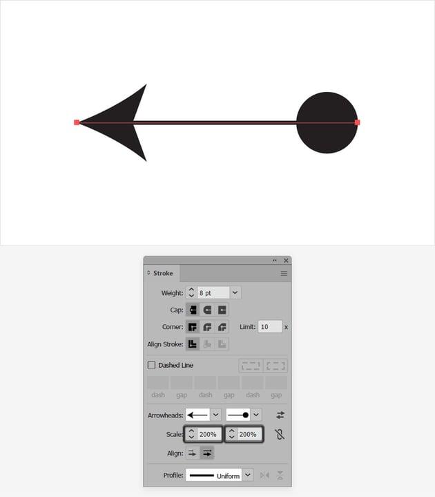 scale arrow head