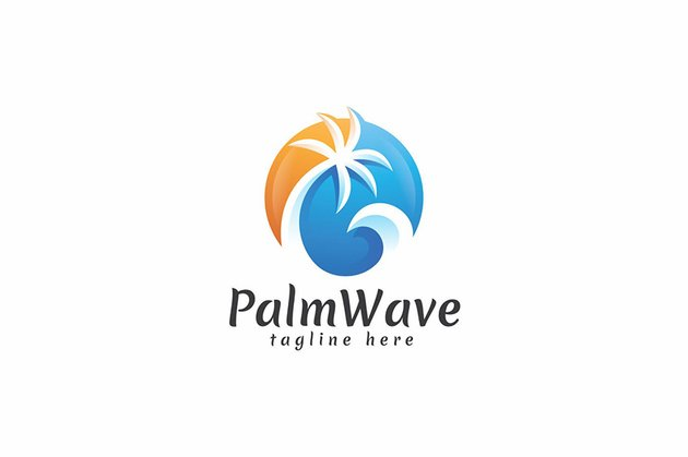 tropical logo template