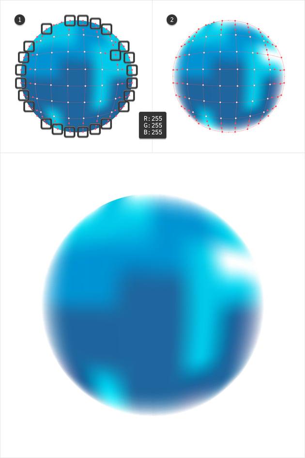 gradient mesh edit