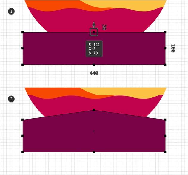 rectangle burgundy