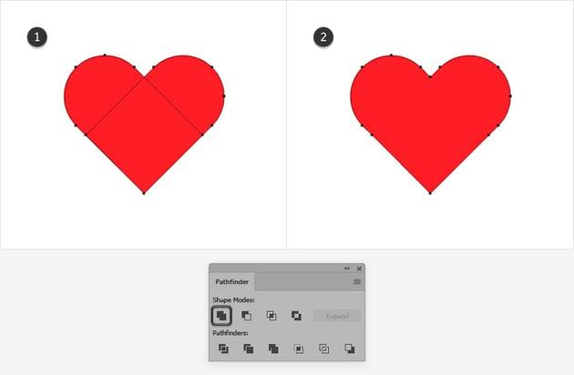 unite heart shape illustrator