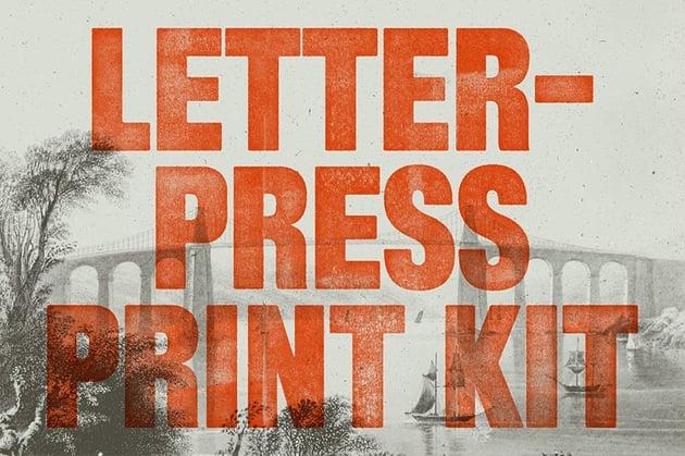 letterpress effect photoshop action
