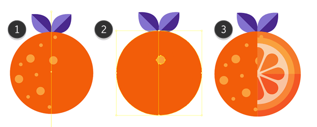 Deleting of the right side of an Orange
