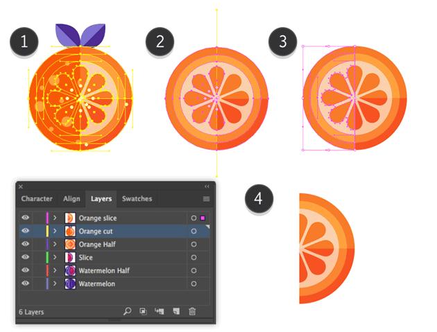 Making a slice of an Orange