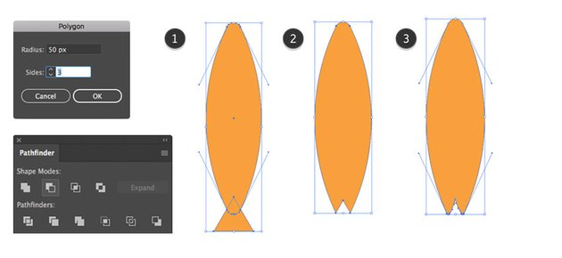 Making of a boards tail
