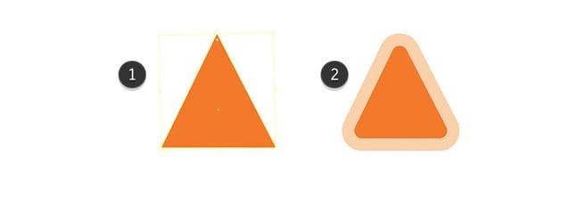 Making of triangle sticker