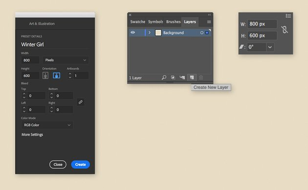 Setting up the document in Illustrator