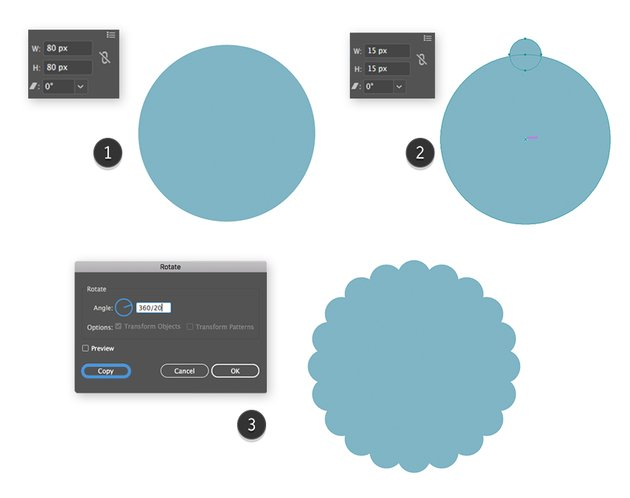 Making of a pompone by using the Rotation Tool