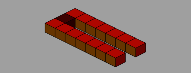 level with 3 rows and single tile moving in x axis