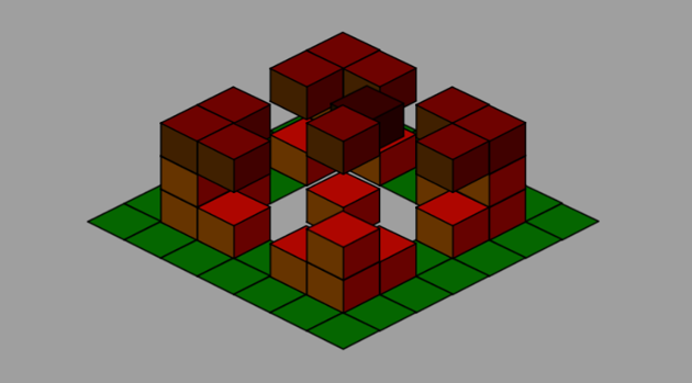 level with tile moving along all 3 axes