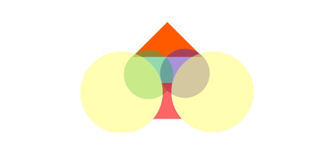 primitive shapes used to define spades shape