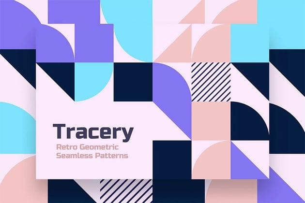 Geometric Tracery Seamless Patterns