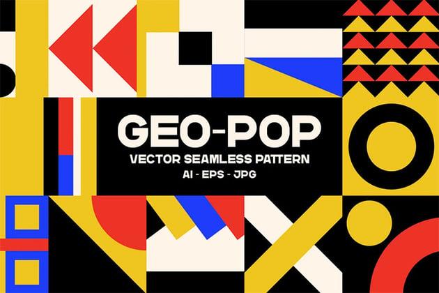 Geopop - Seamless Pattern