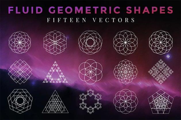 Fluid Geometric Shapes