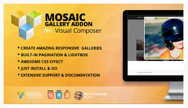 Mosaic Gallery Addon for Visual Composer
