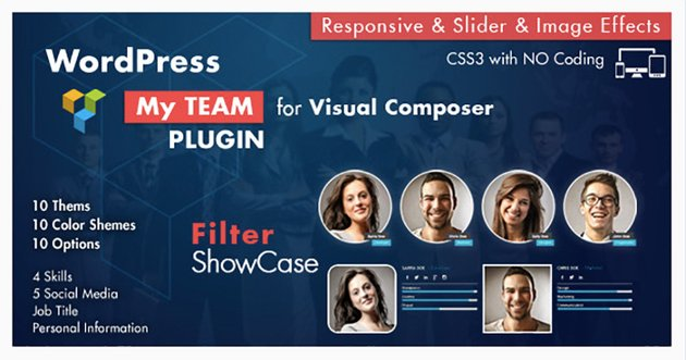 Team Showcase for Visual Composer WordPress Plugin
