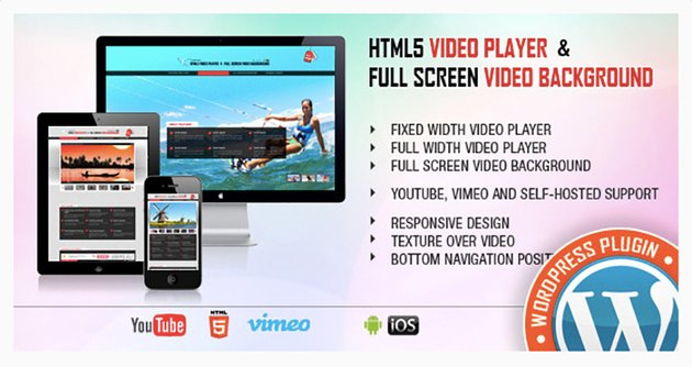 Video Player and Full-Screen Video Background