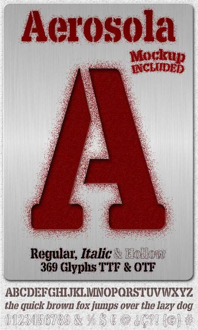 Aerosola Distressed Stencil Alphabet Fonts