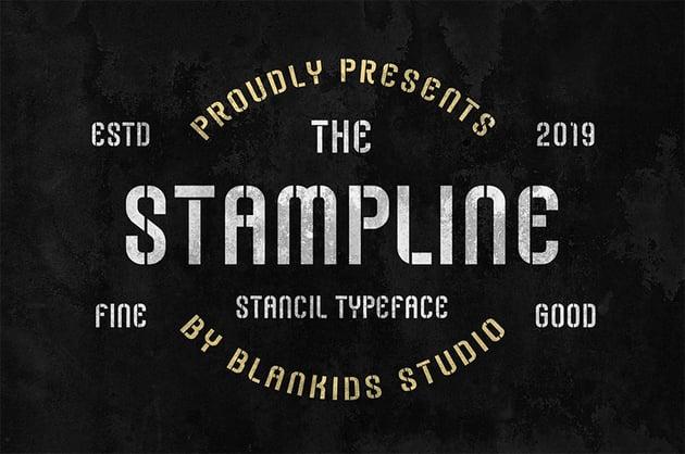 Stampline Distressed Stencil Fonts
