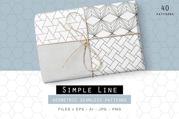 Simple Line Geometric Patterns