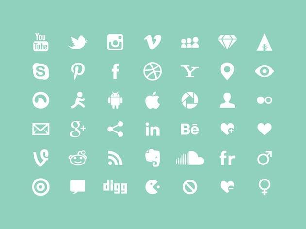 White Multipurpose Icons