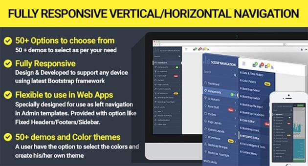 Dropdown Sidebar Menu Responsive Bootstrap Navigation