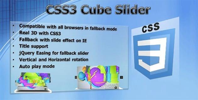 CSS3 Cube Slider