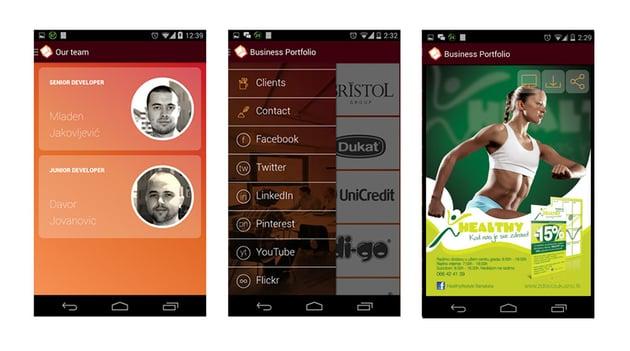 Business Portfolio App