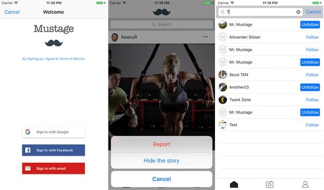 Instagram Mobile iPhone App Template Design