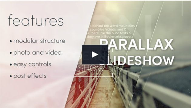 Apple Motion Parallax Slideshow