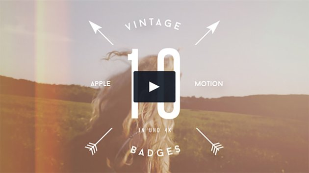 10 Animated Vintage Badges VOL2