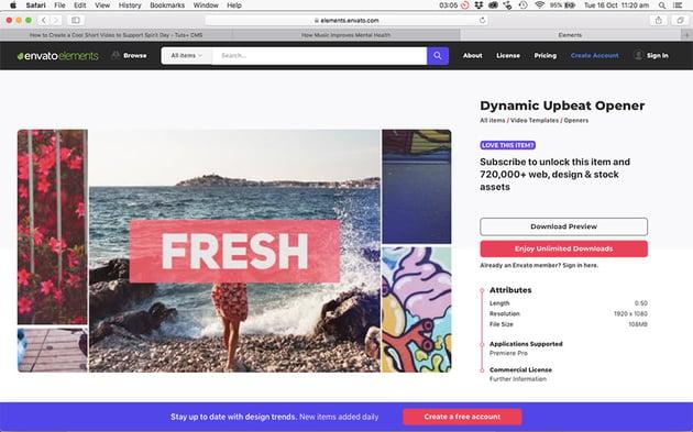 Dynamic Upbeat Opener