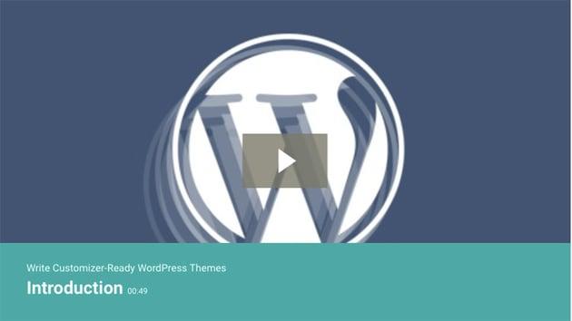 Write Customizer-Ready WordPress Themes