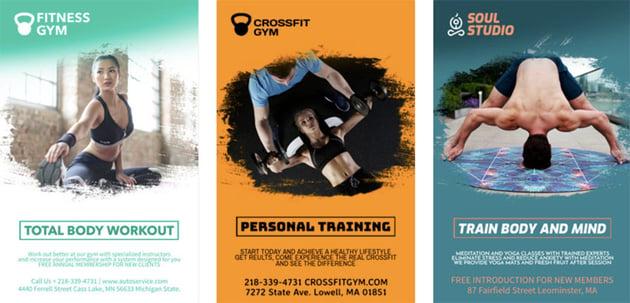 Gym Flyer Maker for Fitness Classes