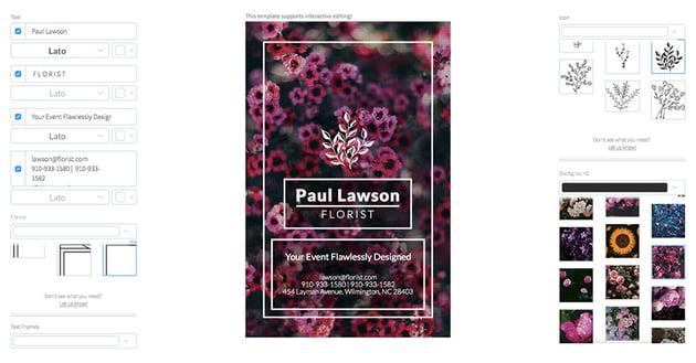 Flyer Maker for Event Florists
