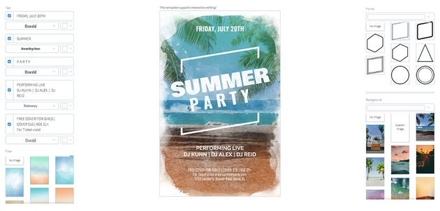 Online Flyer Maker for a Summer Party