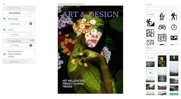 Art and Design Magazine Cover